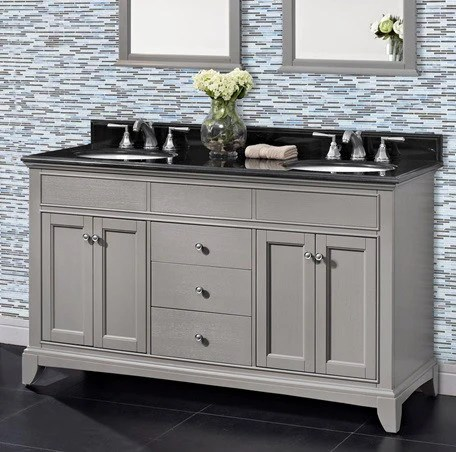 brushed nickel kitchen hardware with pantry cabinet fairmont bathroom vanity smithfield double sink collection ...