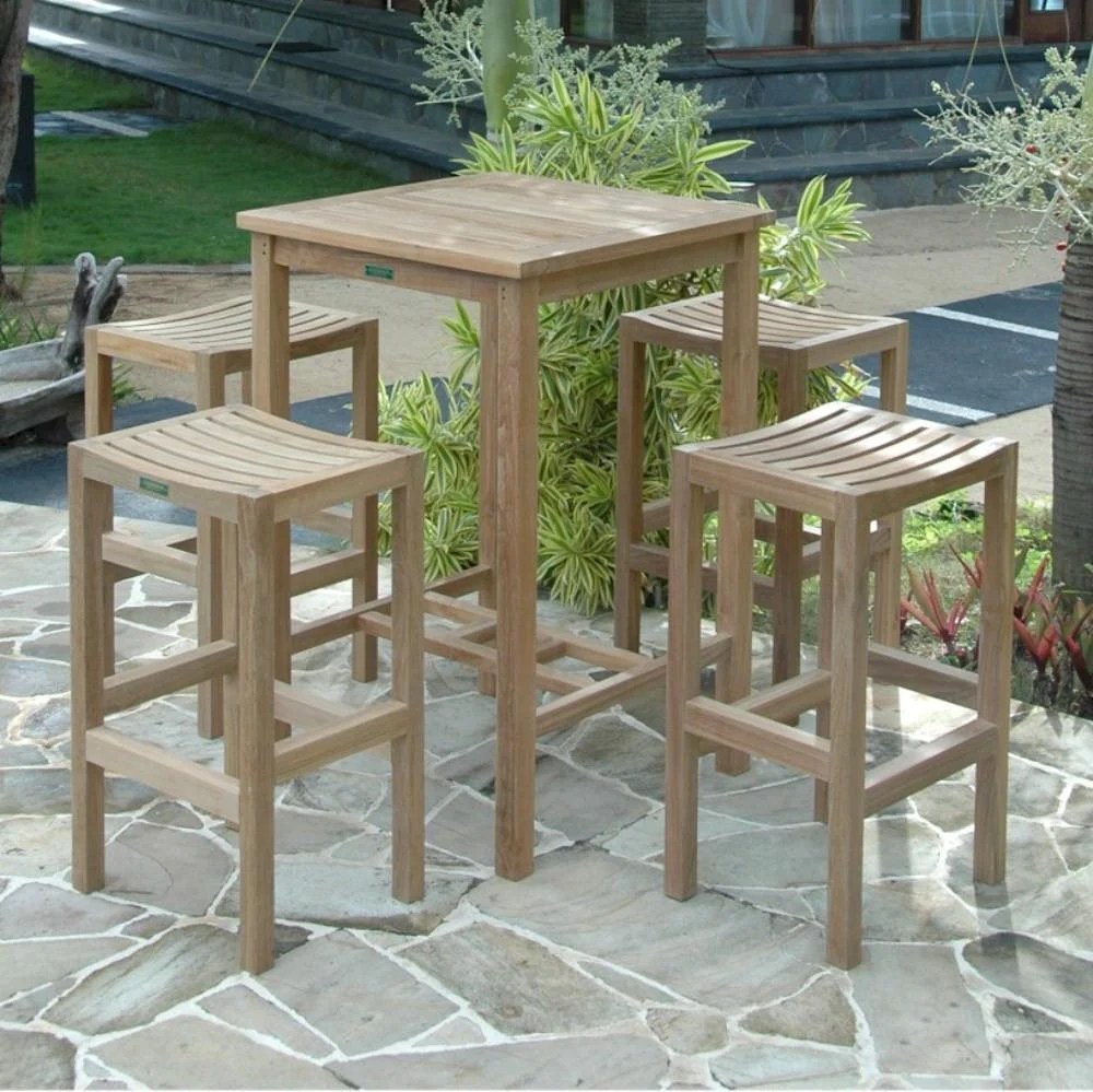 Bar Table With Chairs Anderson Teak Avalon 27