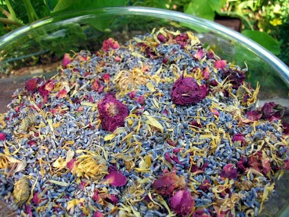 Herbal Potpourri Wedding Flower Toss Petal Confetti  Lizzy Lane Farm