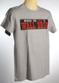 Bumper Sticker T-Shirt - Grey  Wall Drug Store
