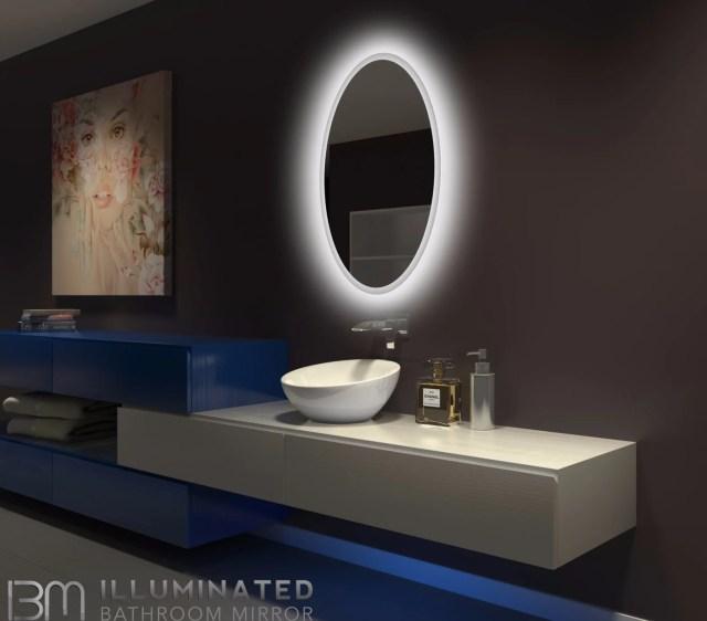 BACKLIT Bathroom MIRROR OVAL 24 X 36 in – IB mirror