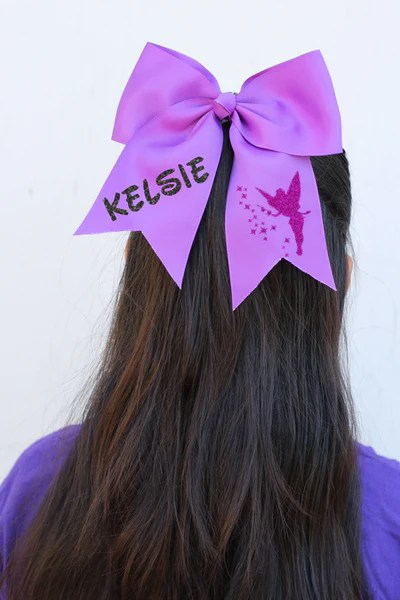 personalized disney hair bows