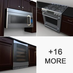 Model Kitchens Vinyl Flooring For 3d Collection Volume 24 Kitchen Appliances Digitalxmodels Com