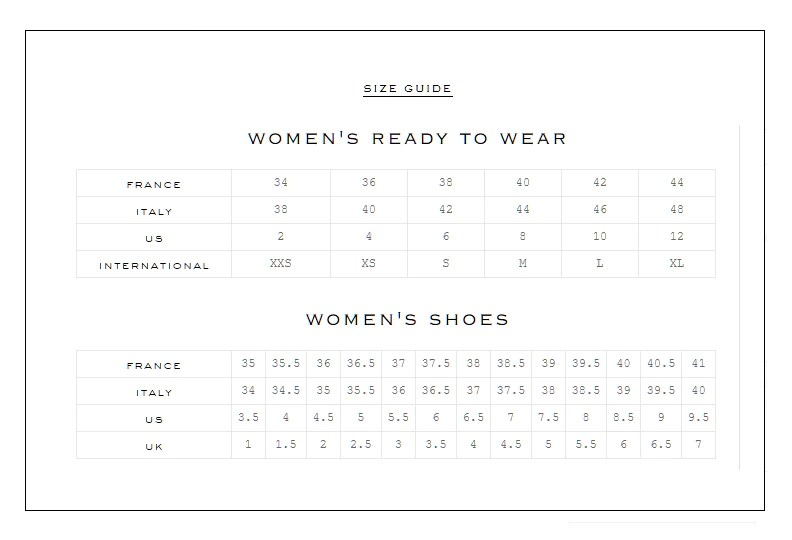 Fendi Size Chart Arenda Stroy
