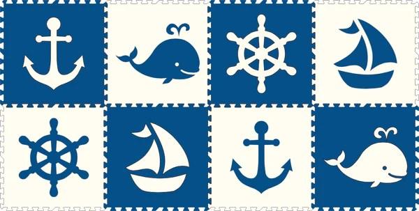 Nautical Play Mats  Puzzle Foam Floor Mat  SoftTiles