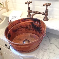 Kitchen Sinks & Faucets Unfinished Pantry Bucket Two | Round Vessel Bathroom Copper Sink - 16 X 8 ...