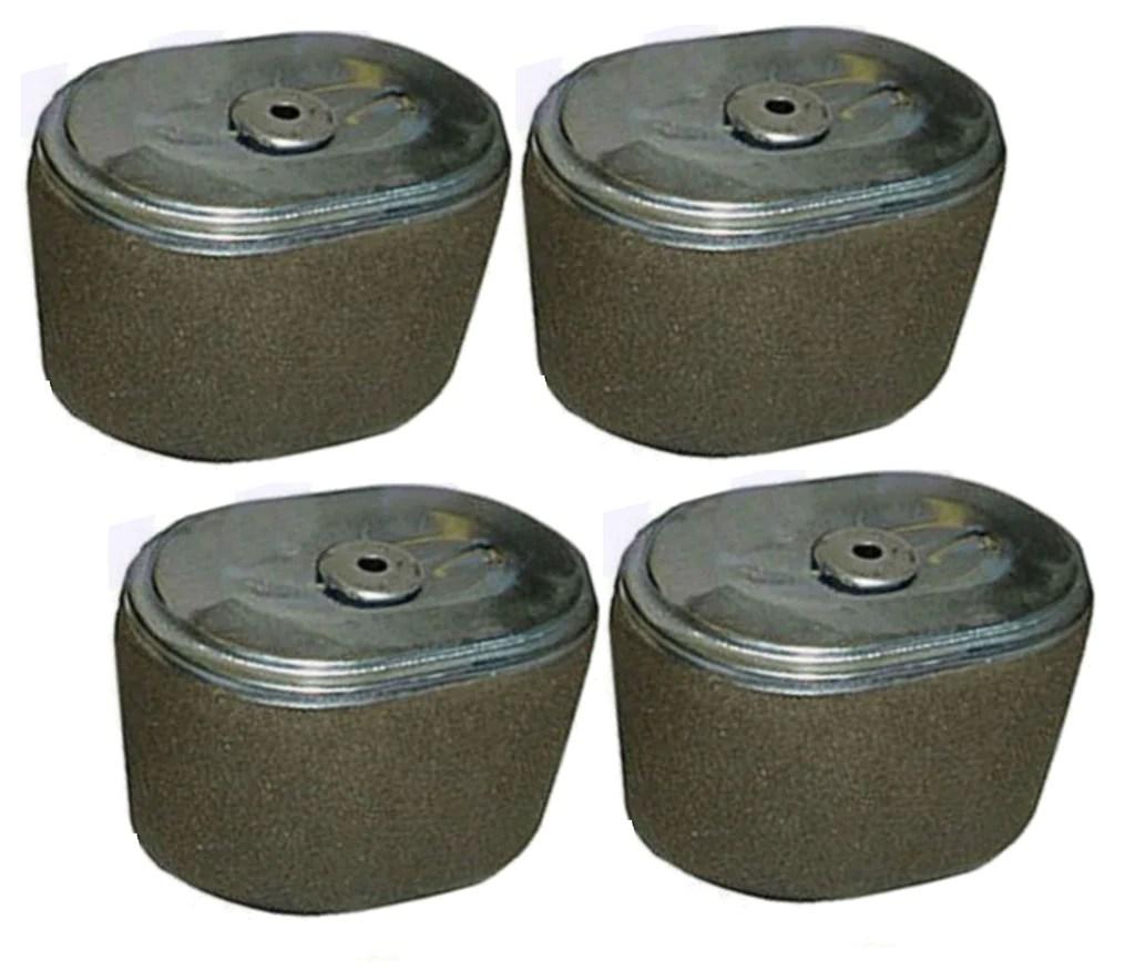 small resolution of  set of 4 fits honda gx240 8 hp air filter 8hp engine