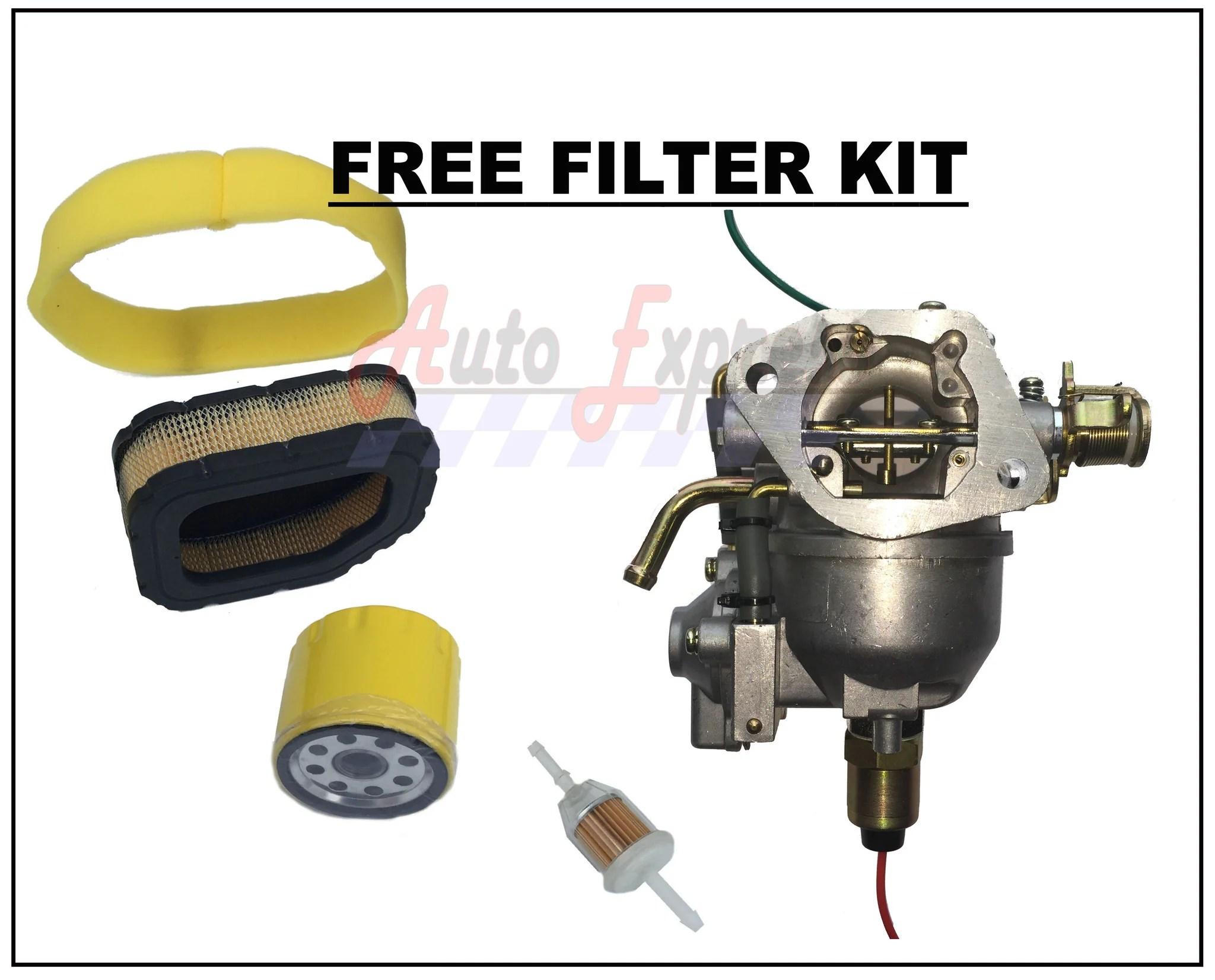 medium resolution of nikki carburetor fits kohler ch18 ch20 carb pump air oil fuel filters