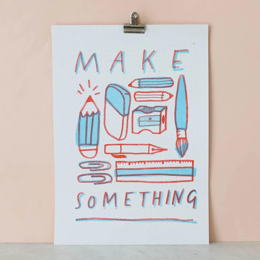make something risograph print