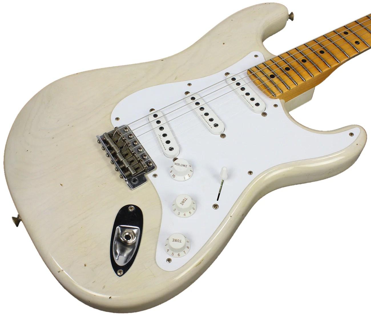 hight resolution of fender custom shop eric clapton journeyman stratocaster relic guitar aged white blonde humbucker music