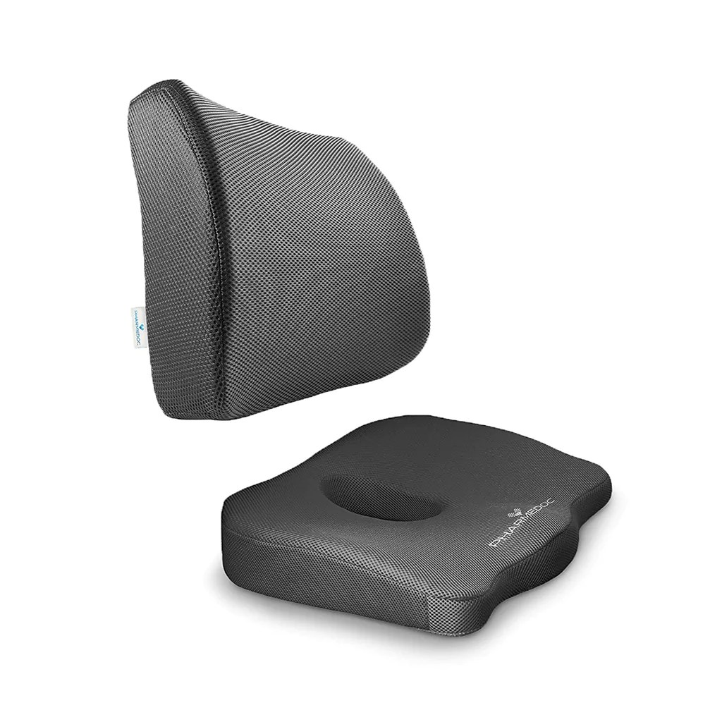 Desk Chair Seat Cushion Orthopedic Seat Cushion Bundle Tailbone Lumbar Support For Office Chair