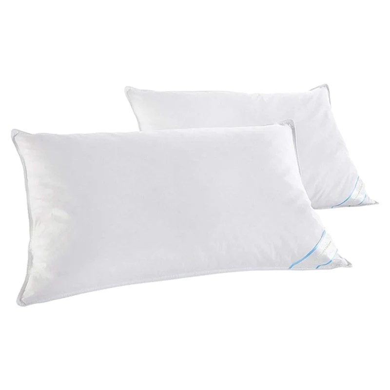 beauty sleep 2 pack 100 cotton covered duck feather pillows