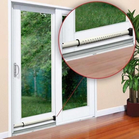 guard dog security door 2 in 1 adjustable jammer patio door security bar