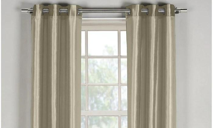 bali faux silk grommet window panel pairs