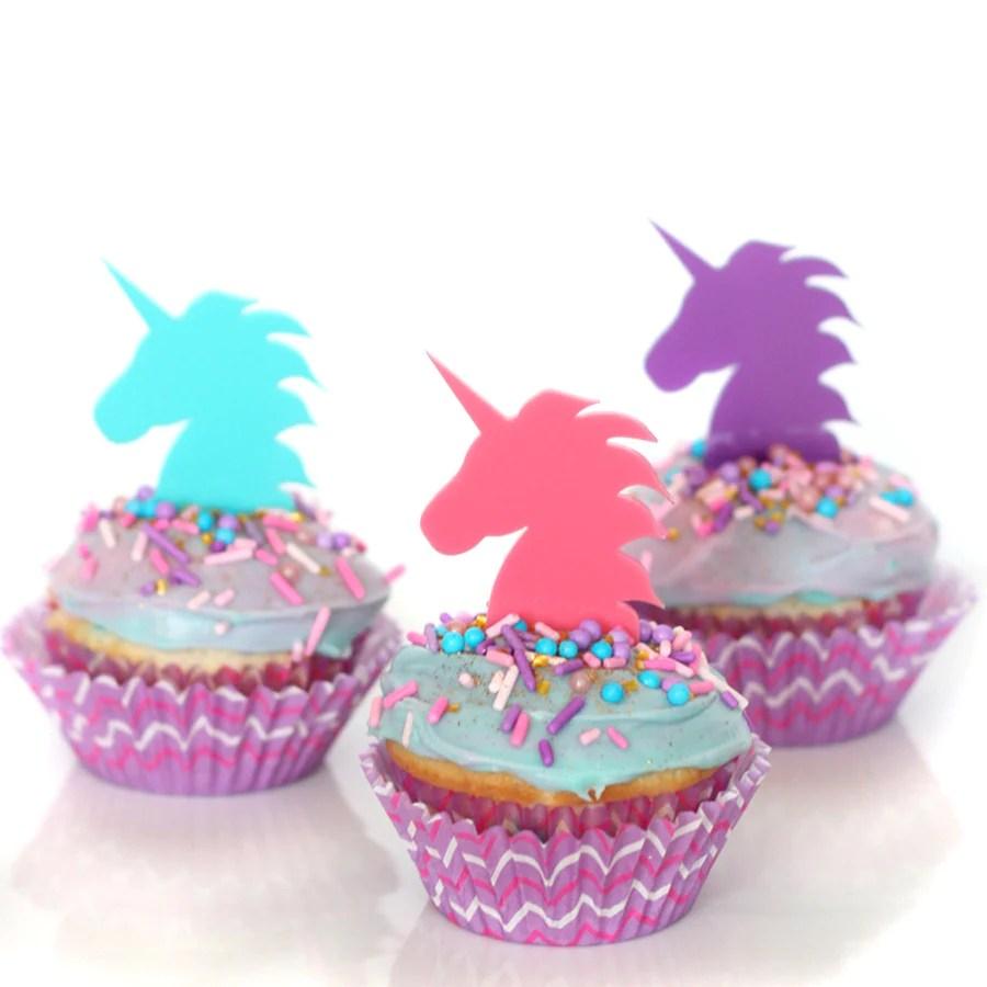 Purple Unicorn Cupcake Topper Wants And Wishes