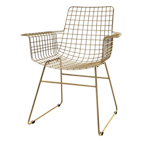 metal armchair the cozy sac bean bag chairs modern in brass mink interiors
