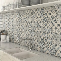 Kitchen Wall Tile Country Decorating Ideas For Creating A Better With Blue White Splashback Mosaic Tiles