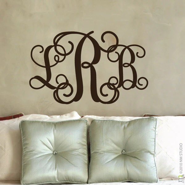entwine monogram wall decal cling creative living