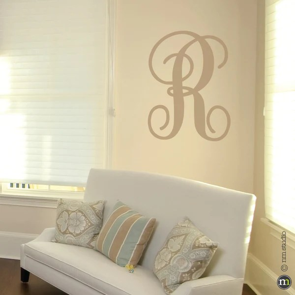 fancy initials wall decal cling creative living