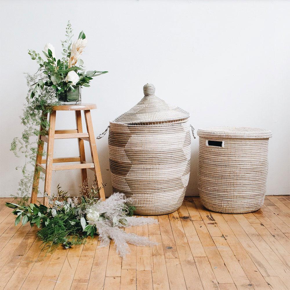 Flat Lid Woven Storage Laundry Basket Connectedgoods Com
