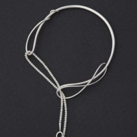 Tendrils Torque neck ring with pearls necklace  Robyn Nichols