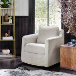 Banks White Swivel Chair Cambric Ivory