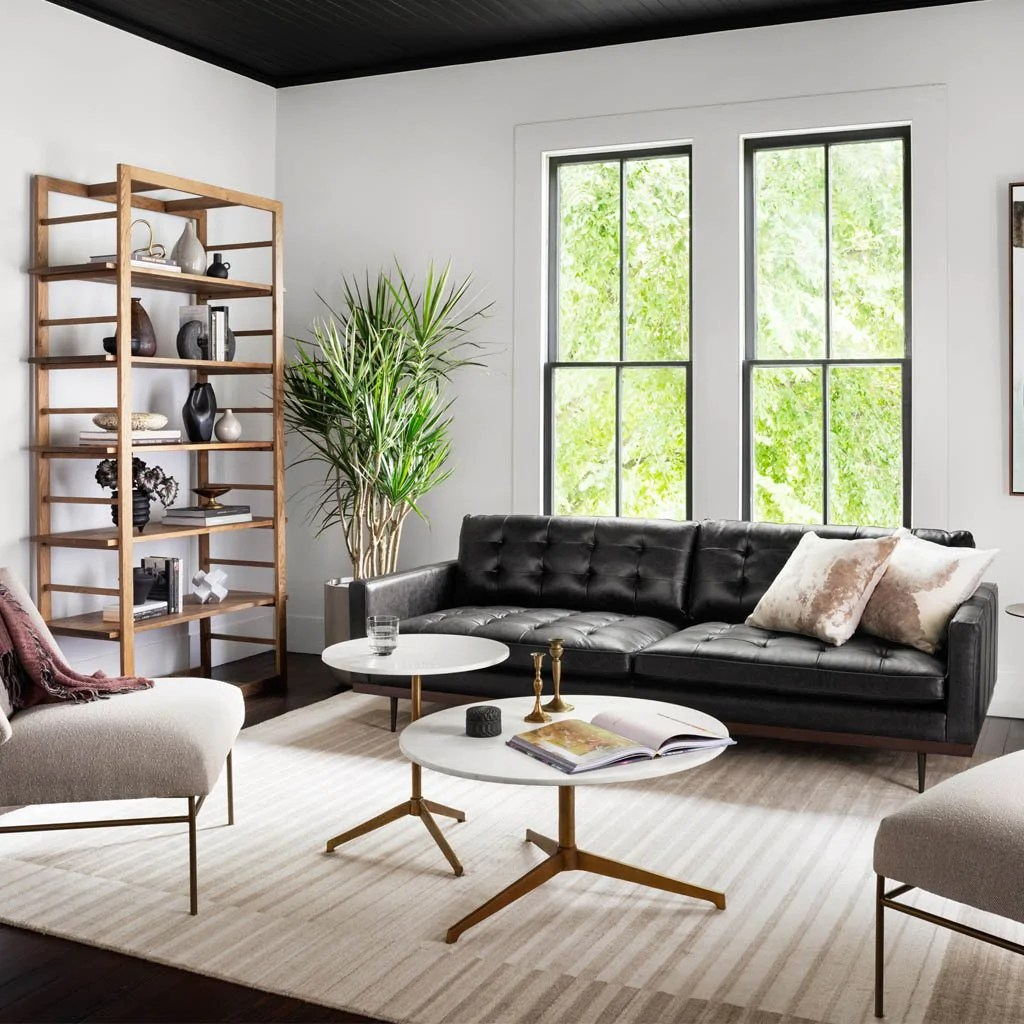 Lexi Sonoma Black Leather Sofa
