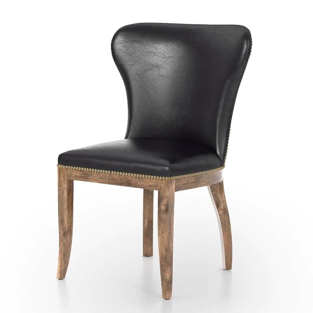 Black Leather Dining Chairs Richmond Dining Chair Black
