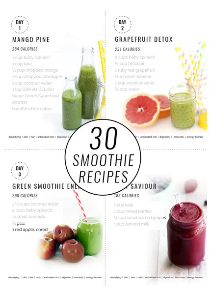 Super Green Smoothies 30 Day Challenge Swiish