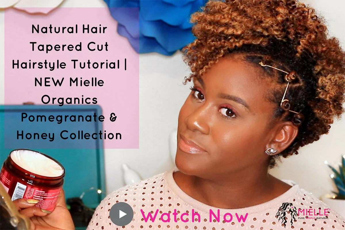 natural hair tapered cut hairstyle