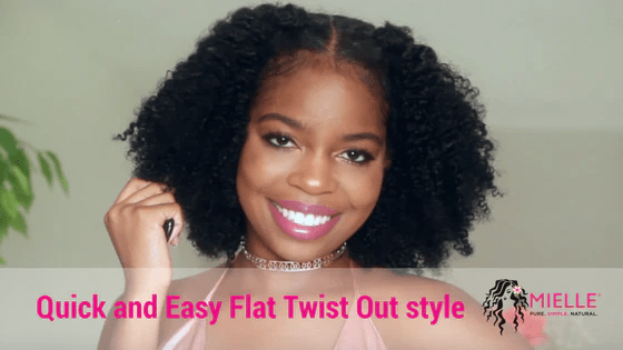 Quick And Easy Flat Twist Out Style On Natural Hair Featuring