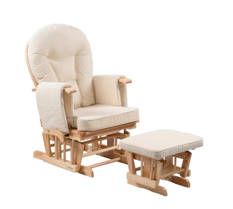 maternity rocking chair for bar table sereno natural nursing glider with footstool kidzmotion