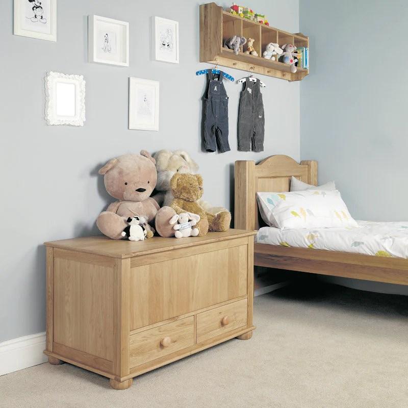 Amelie Solid Oak Toy Box Blanket Box Space Shape