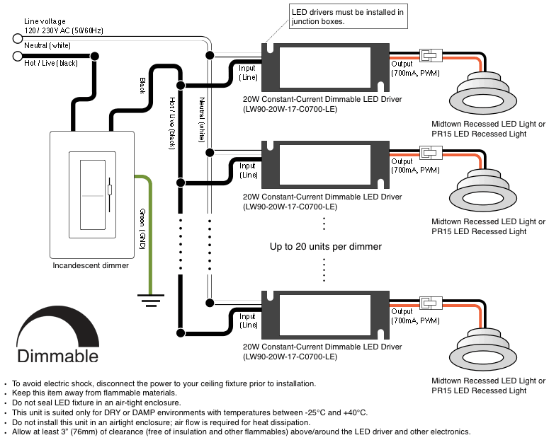 wiring diagram led driver dimmer switch