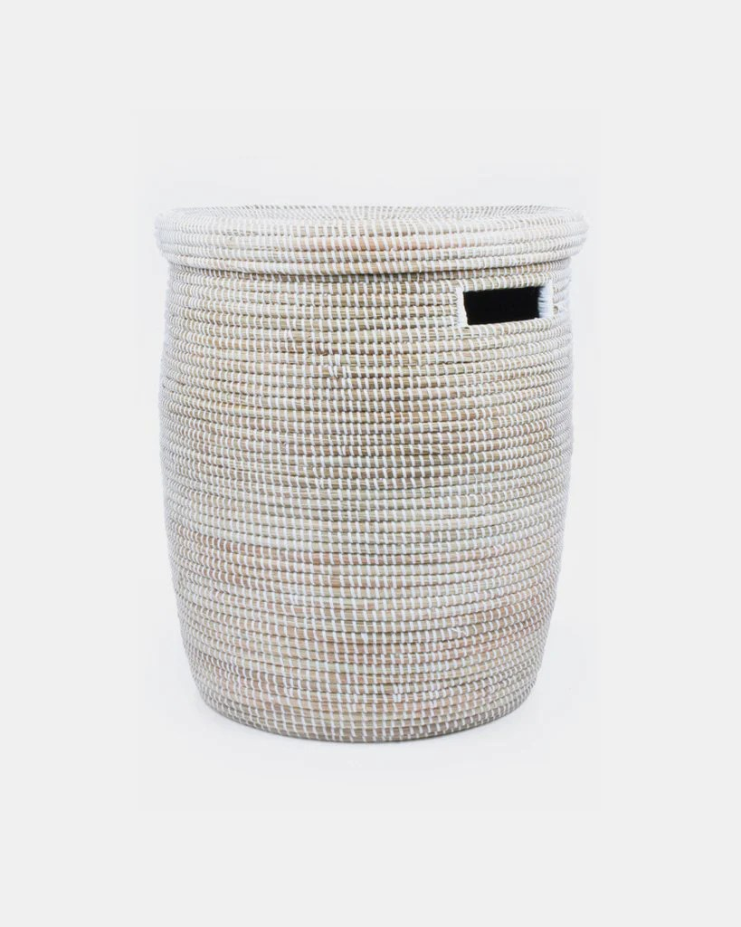 White Woven Laundry Basket White Woven Laundry Basket Hesby Hesby