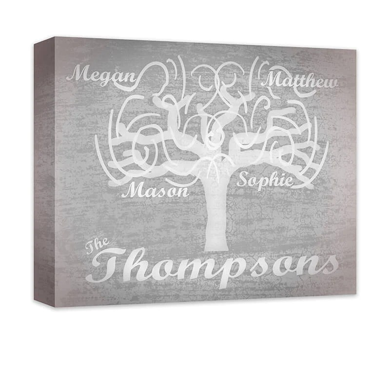 personalized family tree whimsical