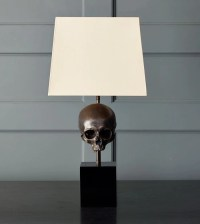 Skull Table Lamp, Bronze  Blackman Cruz