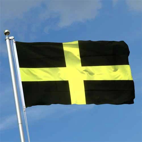 Welsh St Davids Cross  Pole Flag 5x3ft  Giftware Wales