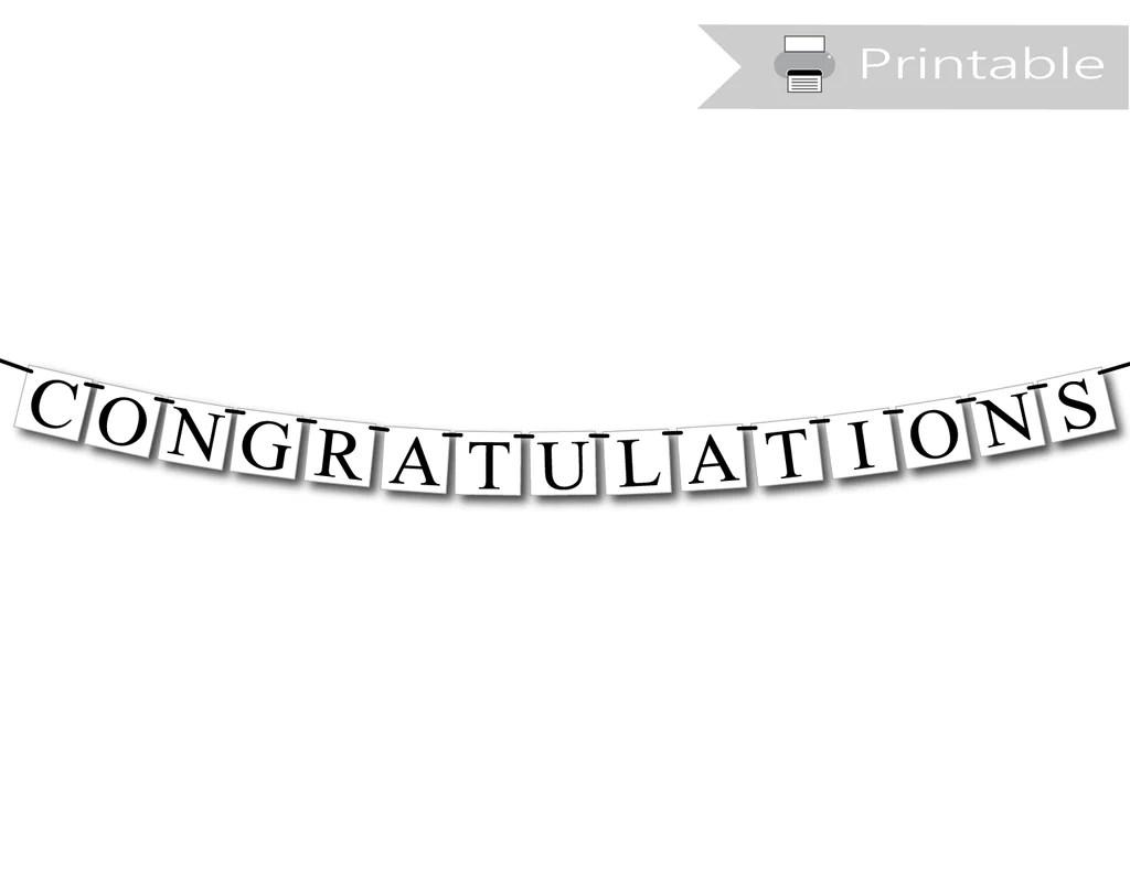 printable congratulations banner