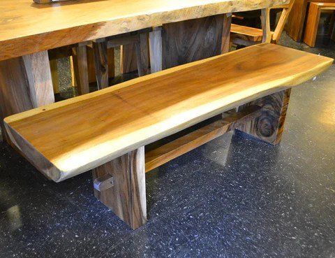 kitchen cabinets alexandria va portable islands chamcha wood slab bench – r-home furniture