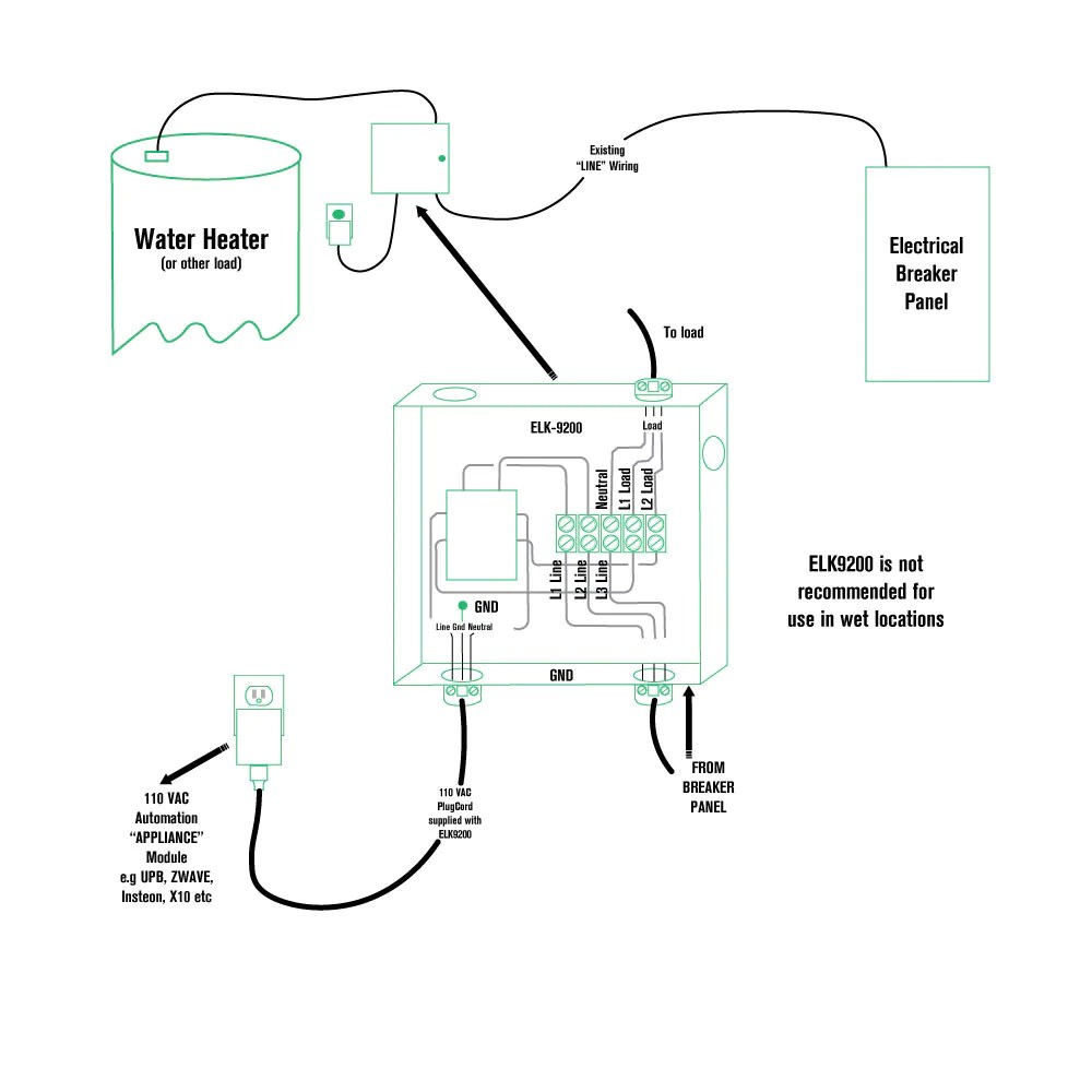 medium resolution of here is visual diagram of a typical install zwave contactor diagram