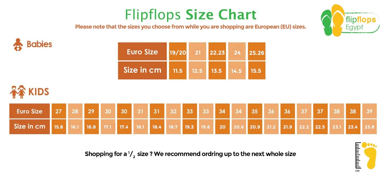 Size chart also baby  flipflops egypt rh flipflopsegypt