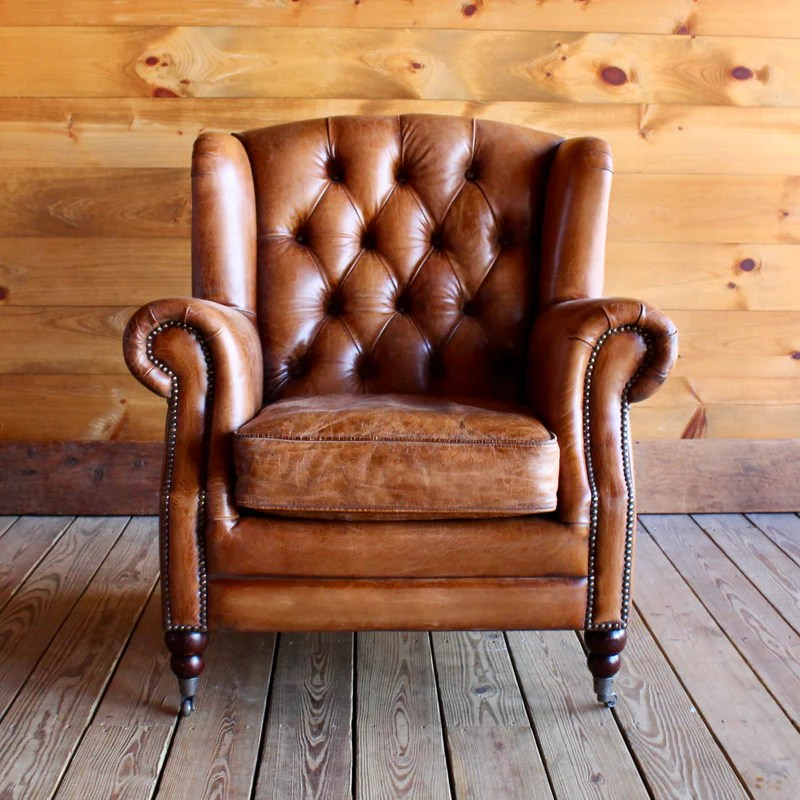 white leather wingback chair desk cad block adirondack furniture stores buffalo wing dartbrook rustic goods