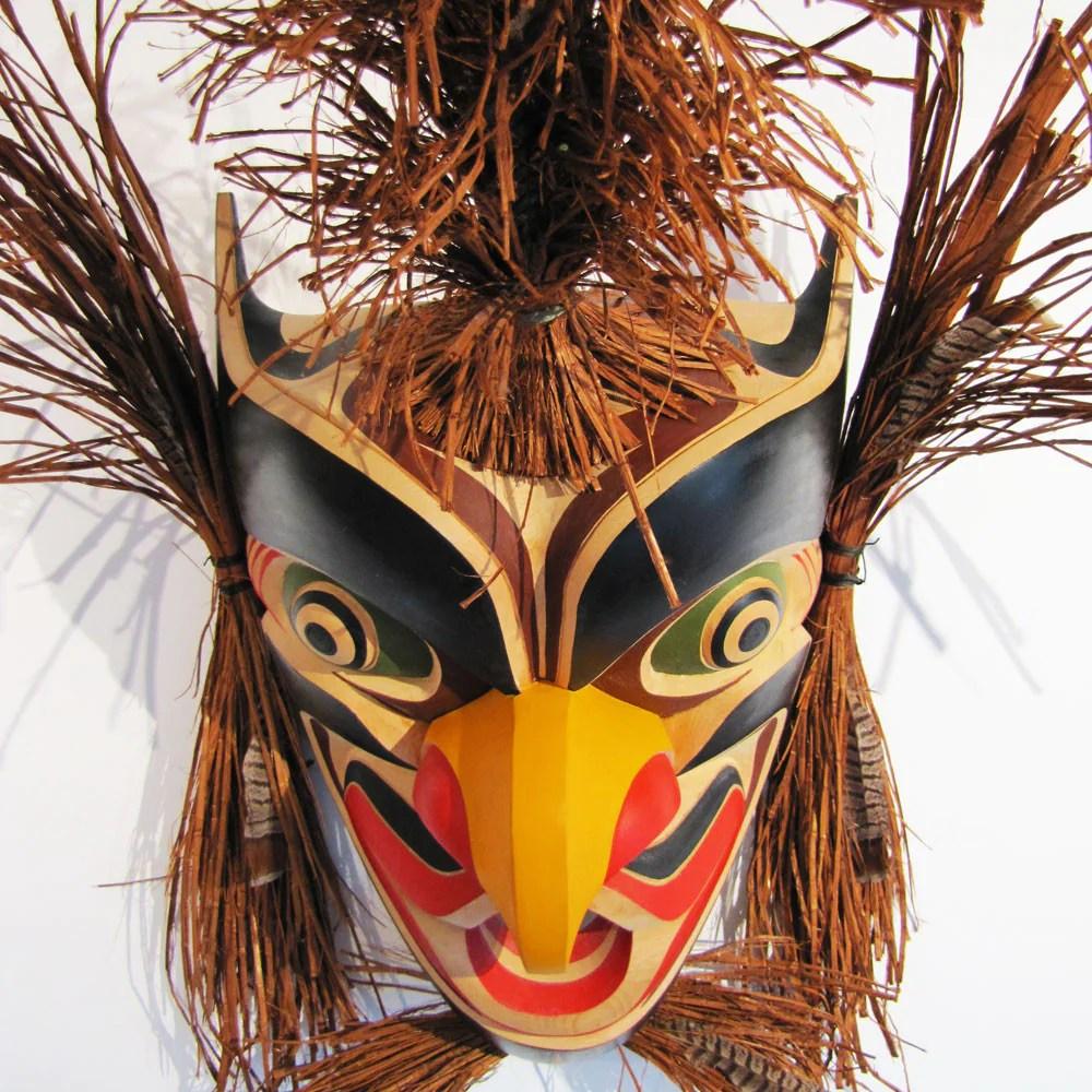 Large Native Grouse Mask Art