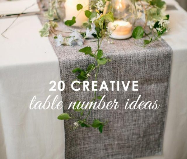 Creative Table Numbers For Wedding Reception