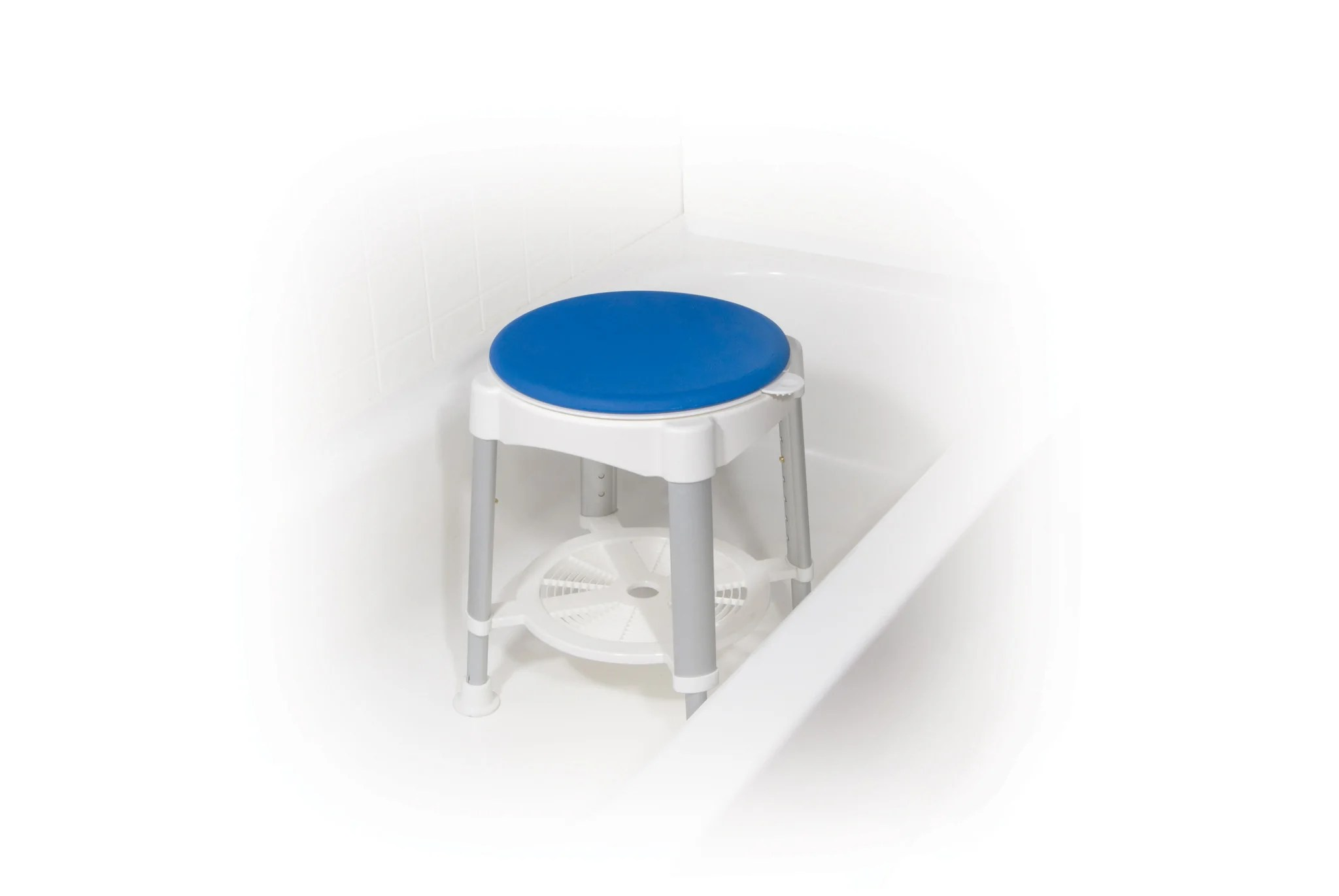revolving chair parts hyderabad toddler swing bath stool with padded rotating seat csa medical supply