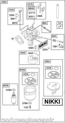 briggs stratton nikki carburetor diagram bmw e87 wiring 593433 assy randy s engine repair