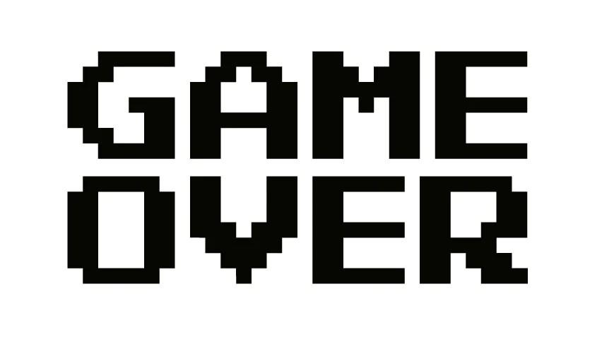 game over classic arcade