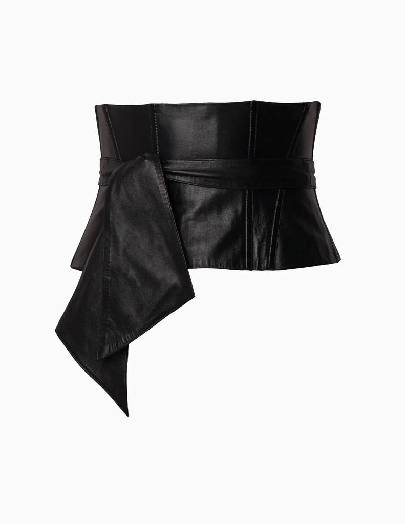 wide leather corset belt