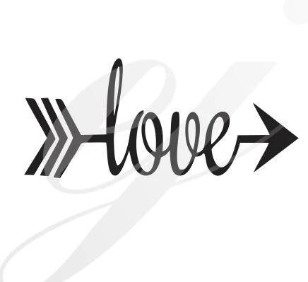 Download Love Arrow SVG DXF PDF JPG JPEG VECTOR Graphic Design ...